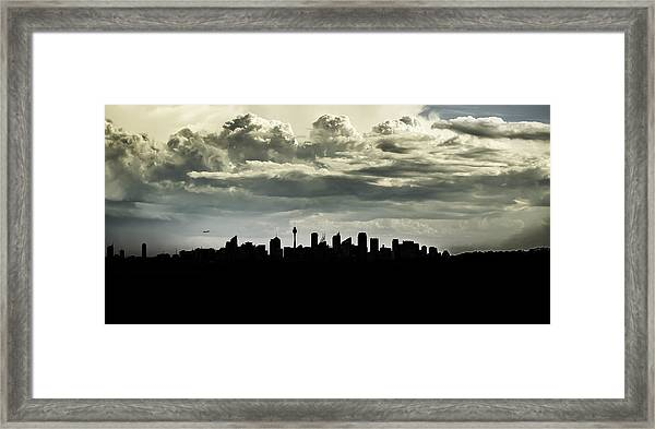 Silhouette Of Sydney Framed Print