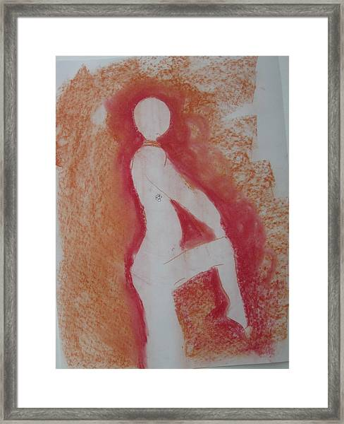 Silhouetted Figure Framed Print