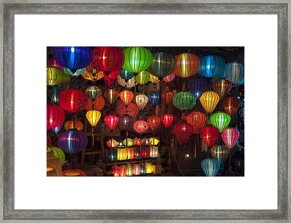Silk Lanterns Framed Print