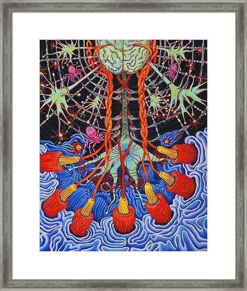 Silk Neural Network Framed Print