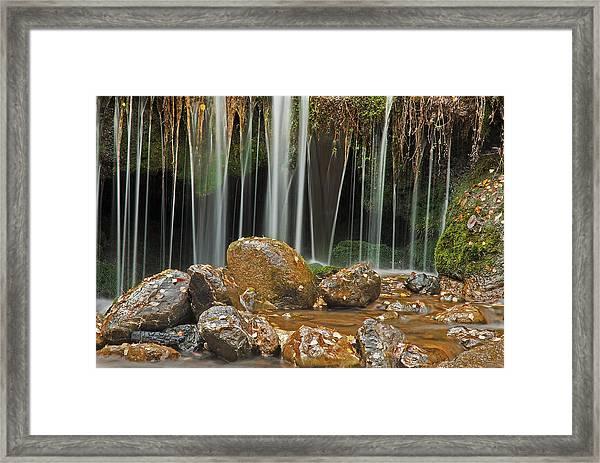 Silky Falls Framed Print