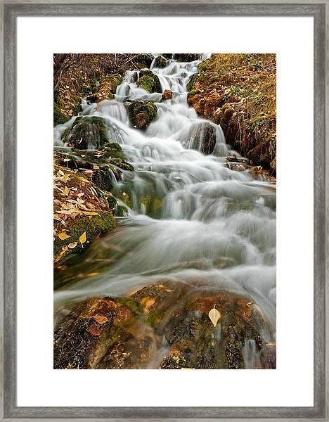 Silky Waterfall Framed Print