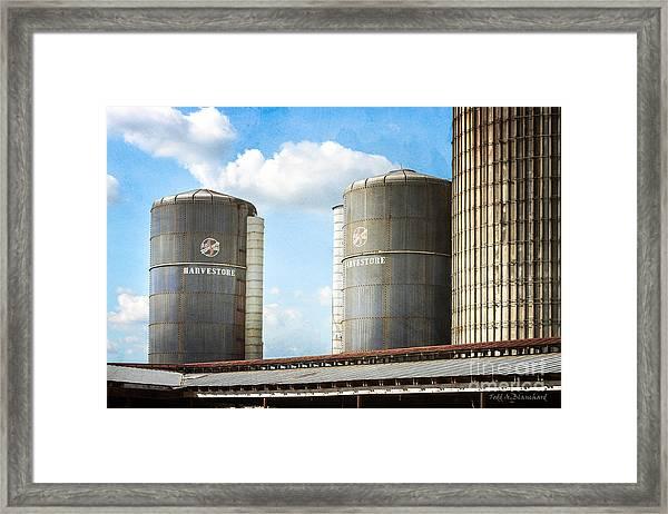 Silos Framed Print