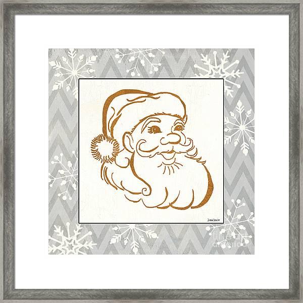 Silver And Gold Santa Framed Print