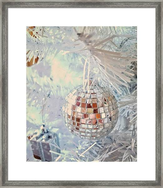 Silver And White Christmas Framed Print