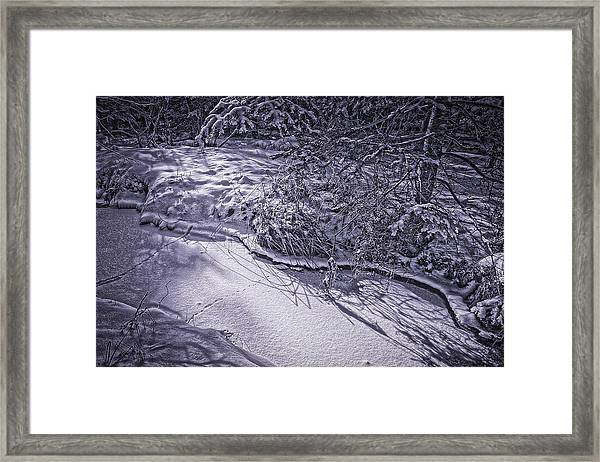Silver Brook In Winter Framed Print