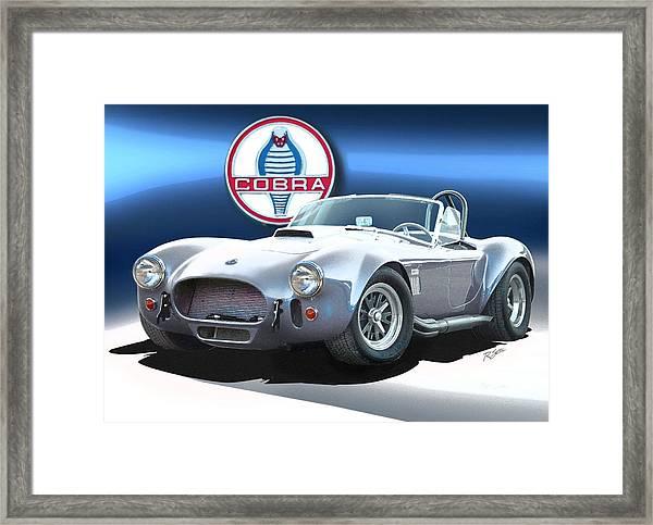 Silver Cobra Framed Print