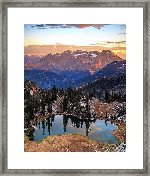 Silver Glance Lake Ig Crop Framed Print