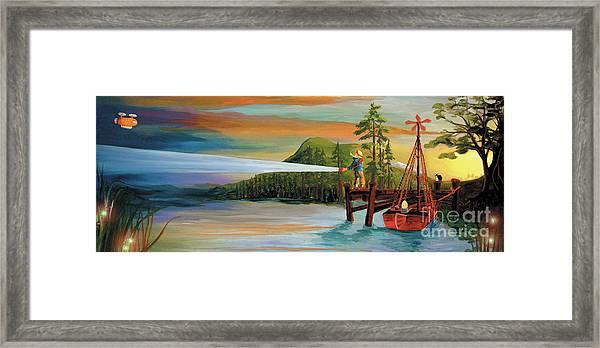 Silver Lake Framed Print