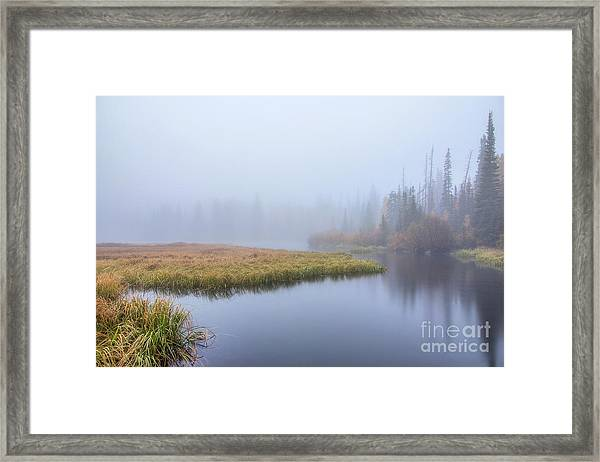 Silver Lake In The Clouds Framed Print