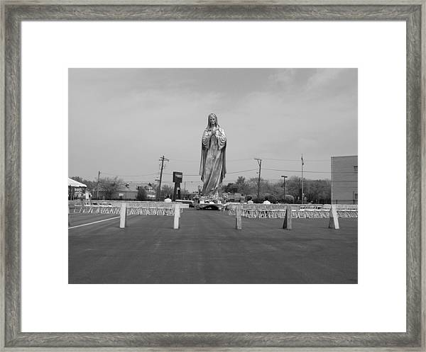 Silver Mary Framed Print
