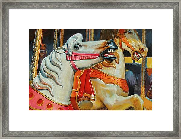 Silver Moon And Ginger Framed Print