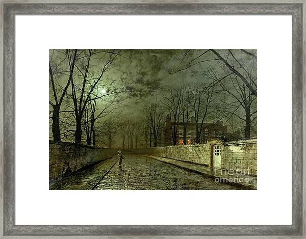 Silver Moonlight Framed Print