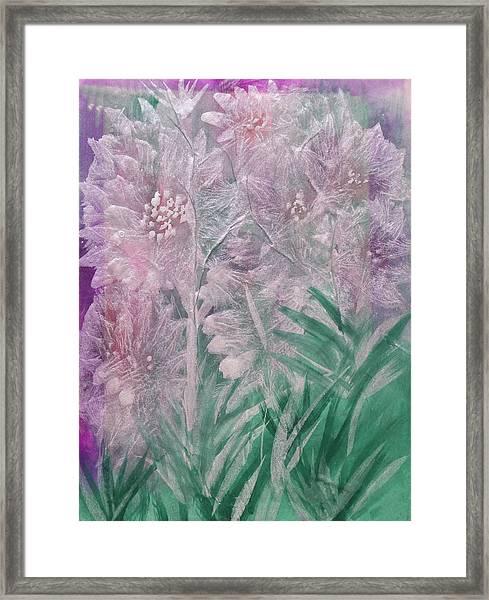 Silver Opulence Framed Print