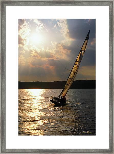 Silver Passage - Lake Geneva Wisconsin Framed Print