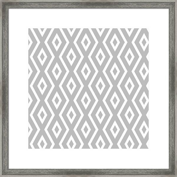 Silver Pattern Framed Print