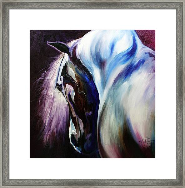 Silver Shadows Equine Framed Print
