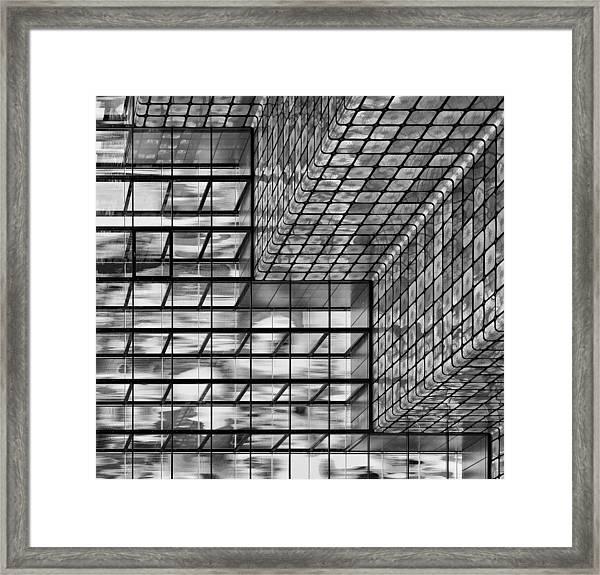 Silver Squares Framed Print by Greetje Van Son