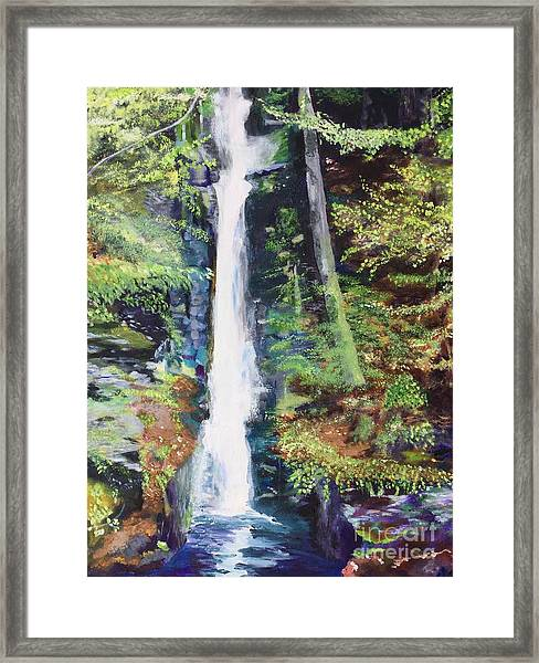 Silver Thread Falls Framed Print
