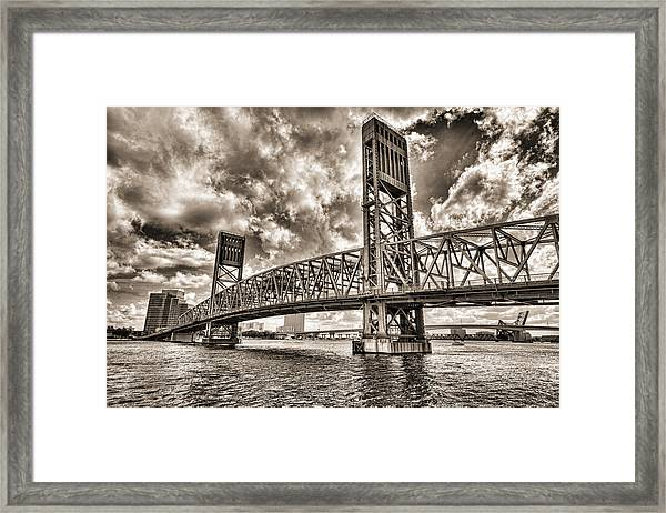 Silver Wing Framed Print