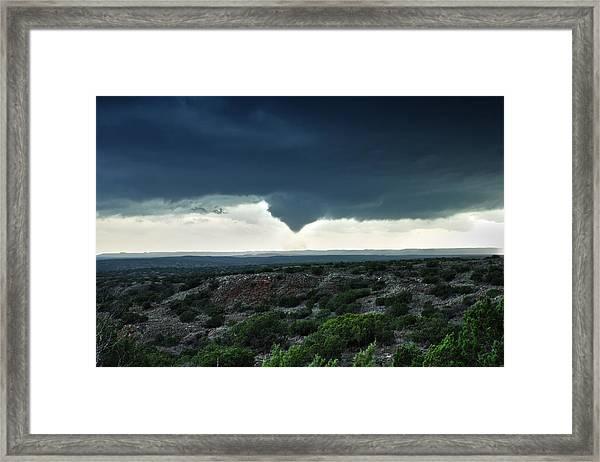 Silverton Texas Tornado Forms Framed Print