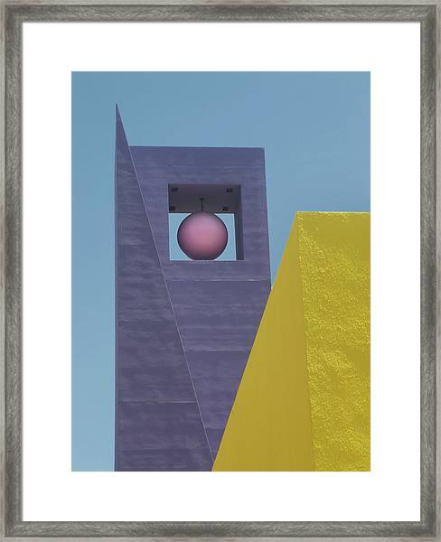 Similar Shapes Different Colors Framed Print