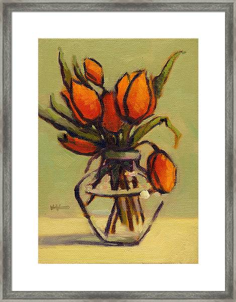 Framed Print featuring the painting Simple Elegance by Konnie Kim