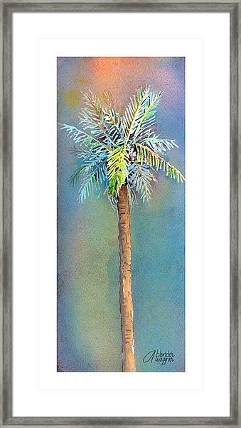 Simple Palm Tree Framed Print