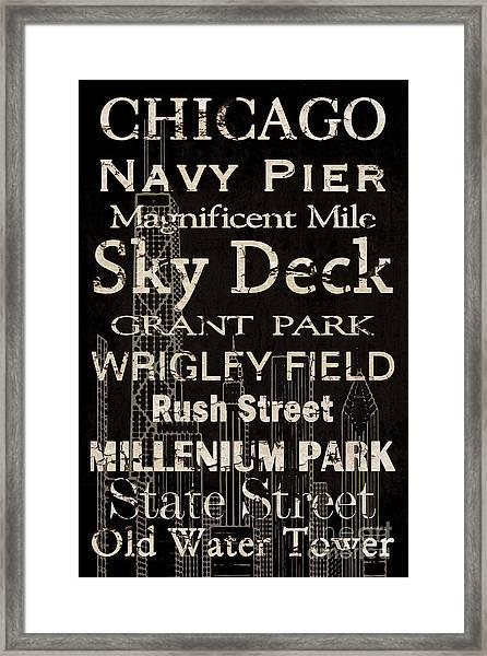 Simple Speak Chicago Framed Print