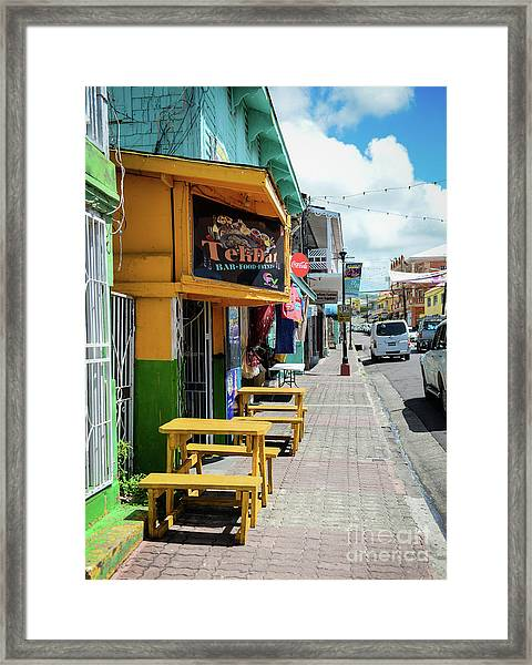 Simple Street View Framed Print