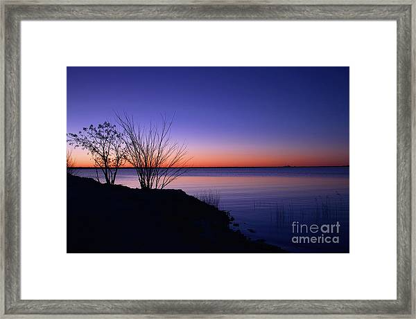 Simply Gentle Blue Framed Print