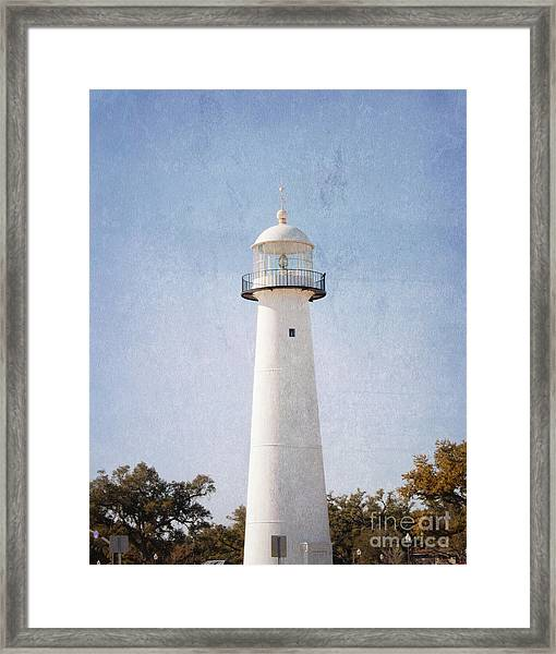Simply Lighthouse Framed Print