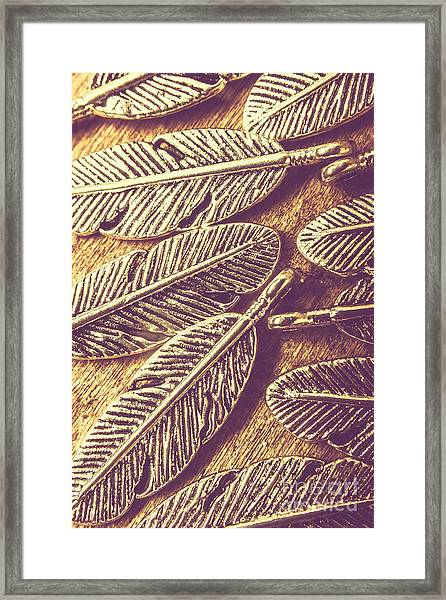 Simply Metallic Framed Print
