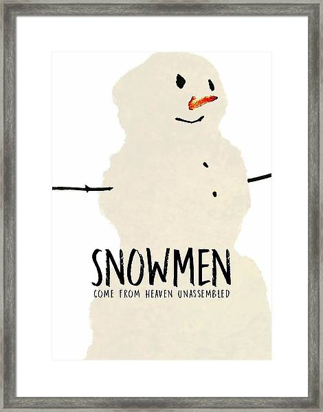 Simply Snowman Quote Framed Print by JAMART Photography