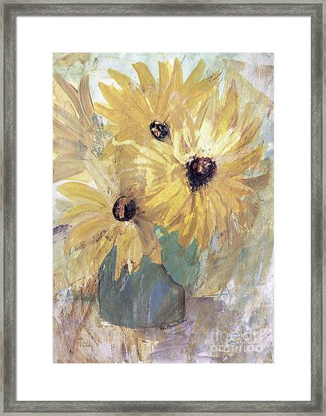 Simply Sunflowers  Framed Print