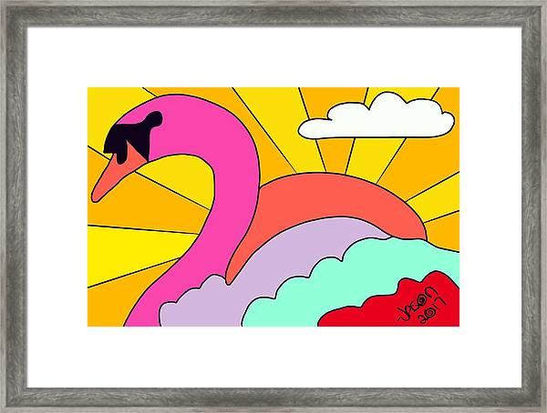 Simply Swan-sational Framed Print