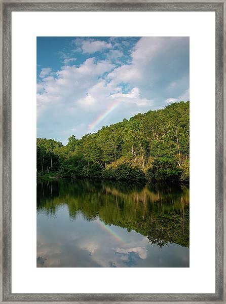 Sims Pond Framed Print by Jim Neal