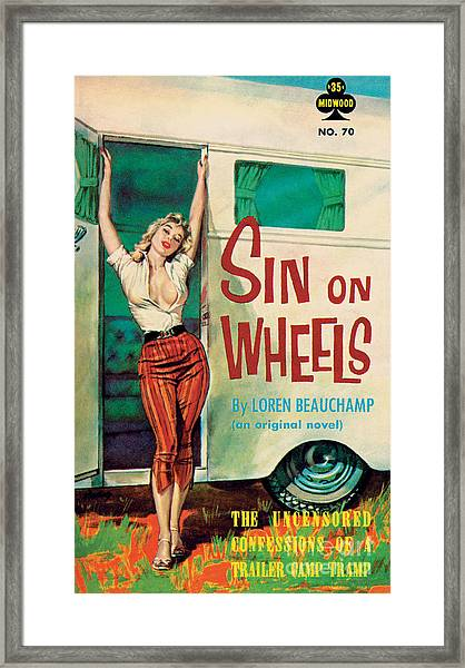 Sin On Wheels Framed Print