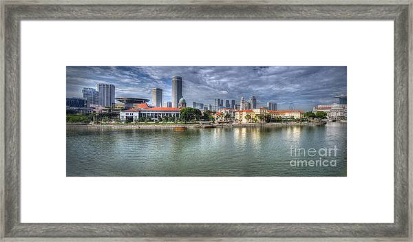 Singapore By Day Framed Print