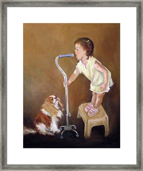Singin In The Cane Part Two Framed Print