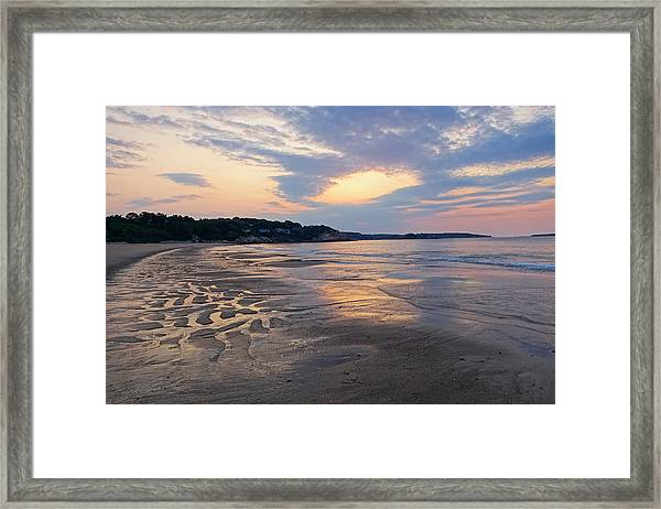 Singing Beach Sandy Beach Manchester By The Sea Ma Sunrise Framed Print
