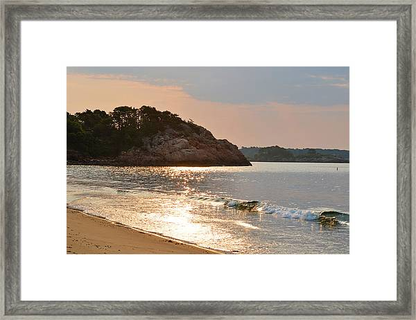 Singing Beach Silver Waves Manchester By The Sea Ma Framed Print