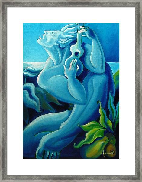 Singing Blue Hawaii Framed Print