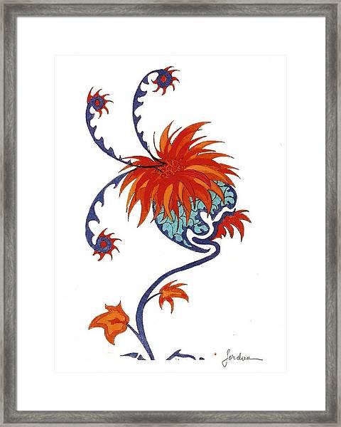 Singing Flower Framed Print