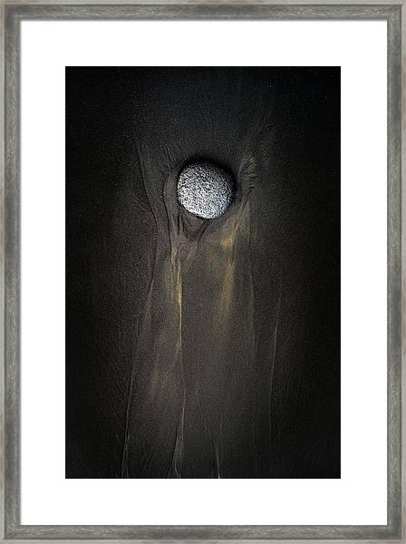 Single Stone Framed Print