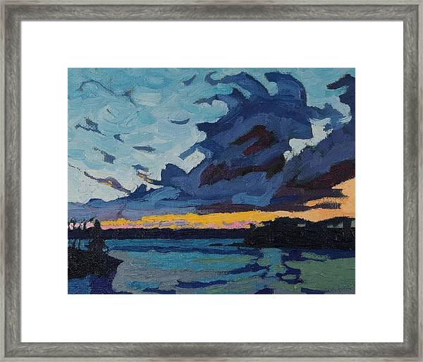 Singleton Sunset Stratocumulus Framed Print