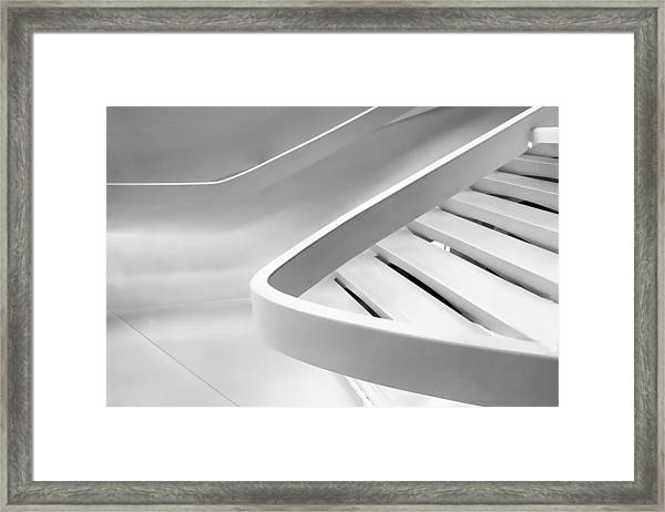 Sinuous In White Framed Print