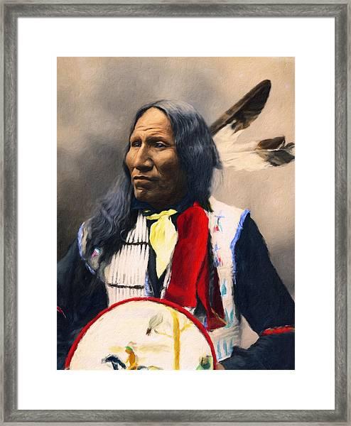 Sioux Chief Portrait Framed Print