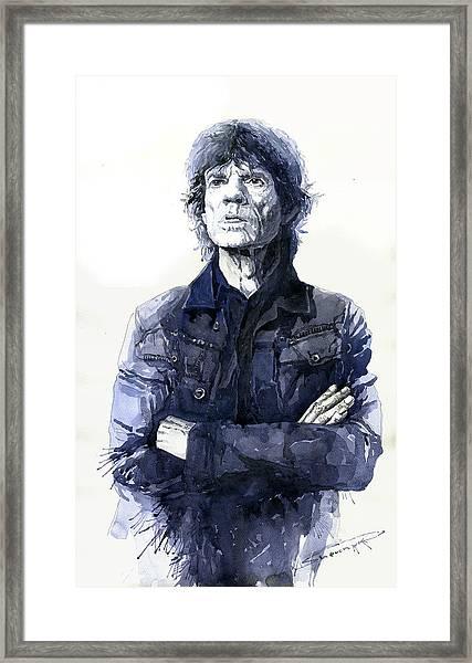 Sir Mick Jagger Framed Print