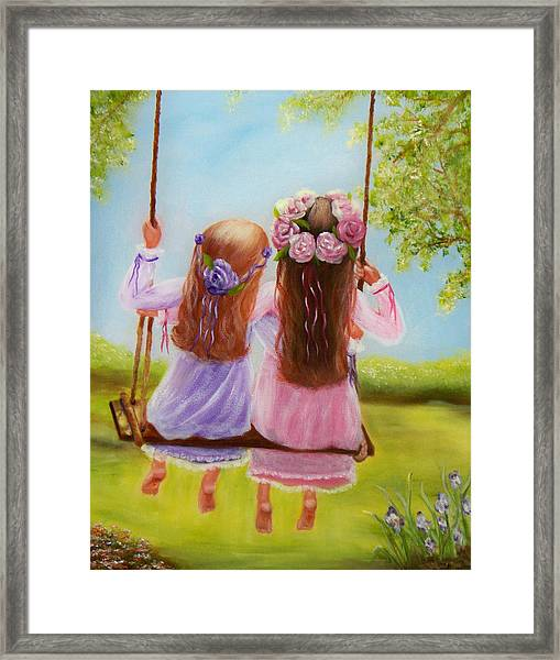 Sisters And Friends Forever Framed Print